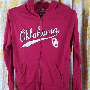 Oklahoma Sooners T-Shirt Hoodie Full Zip